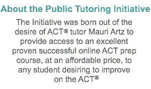 About the Public Tutoring Initiative